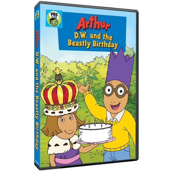 arthur: d.w. and the beastly birthday dvd | shop.pbs