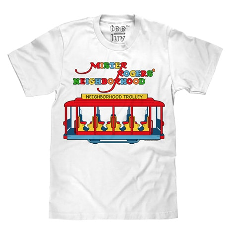 Mister Rogers Neighborhood Trolley Logo Tee