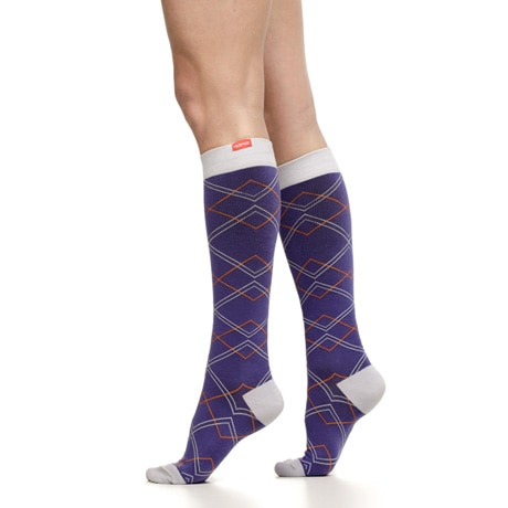 Overlapping Diamonds Women's Compression Socks