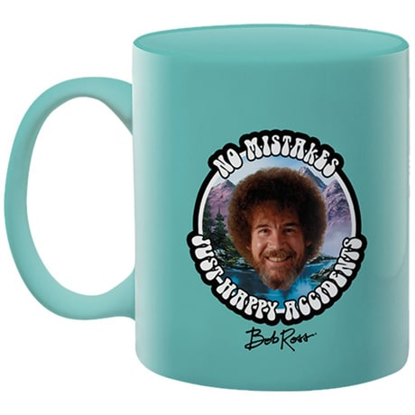 Bob Ross 'Happy Accidents' Mug