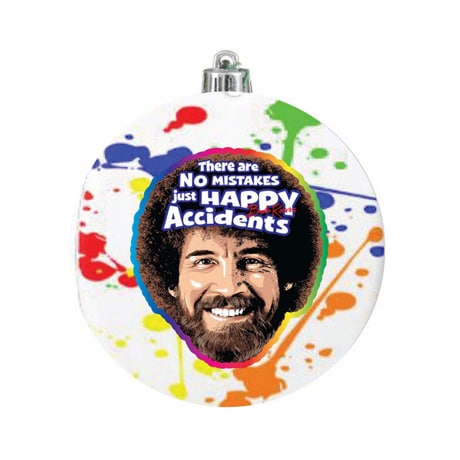 Bob Ross Bulb Ornament