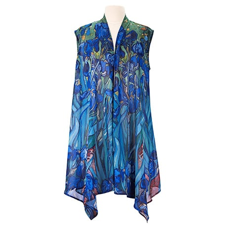 Monet and Van Gogh Sheer Long Vest