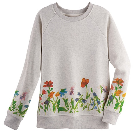 Watercolor Flowers Sweatshirt