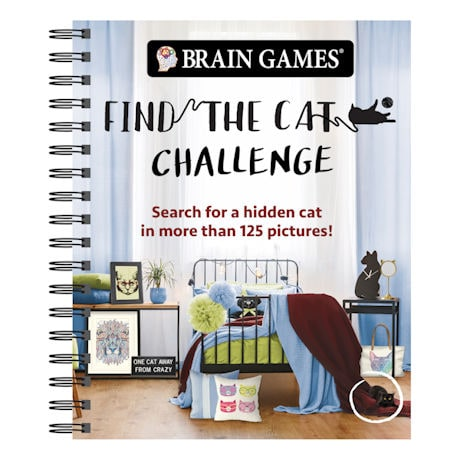 Find the Cat Challenge Spiral-Bound Book