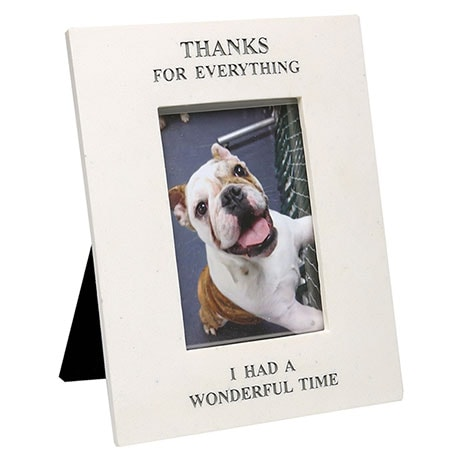 """Thanks for Everything"" Pet Memorial Frame - 4' x 6' Photos"