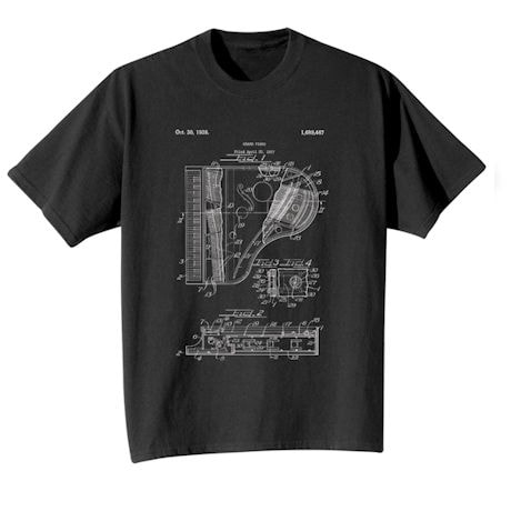 Vintage Patent Drawing Shirts - Piano