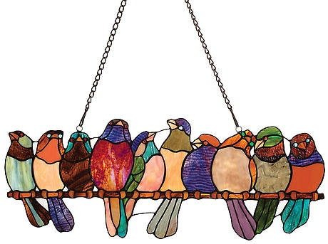 Birds on a Wire Stained Glass