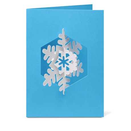 Spinning Snowflake 3D Greeting Cards