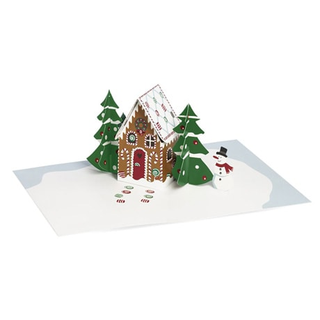 Gingerbread Cabin 3D Greeting Cards