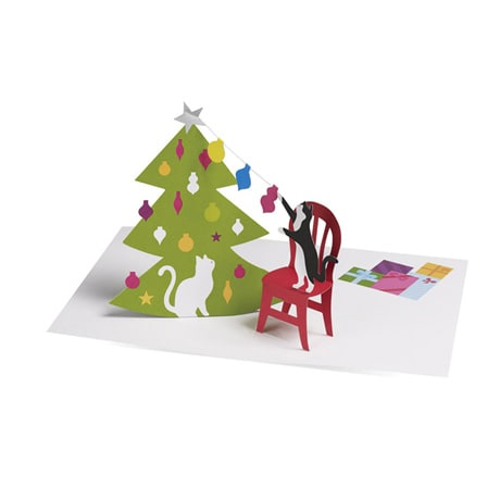Christmas Cats 3D Greeting Cards