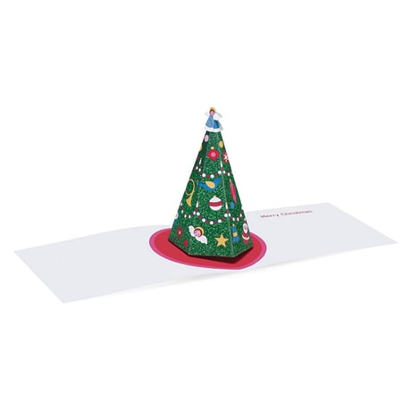 Shimmering Tree 3D Greeting Cards - Set of 8