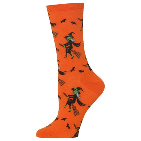 Witch on a Broom Women's Socks