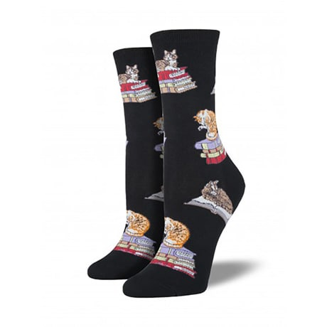 Cats On Books Women's Socks