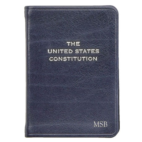 U.S. Constitution Leatherbound Keepsake - Personalized