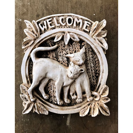 Cat Welcome Plaque