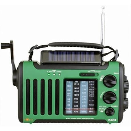 4-Way Powered Emergency Weather Alert Radio - Green