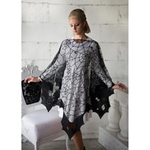 Product Image for Halloween Bats Lace Poncho