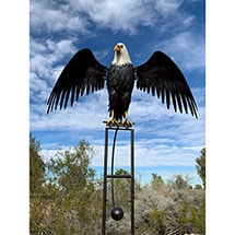 Product Image for Rocking Metal Eagle Outdoor Decor