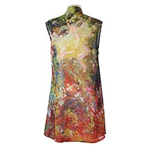 Alternate Image 2 for Monet and Van Gogh Sheer Long Vest