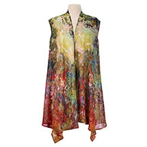 Alternate Image 1 for Monet and Van Gogh Sheer Long Vest