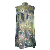 Alternate Image 4 for Monet and Van Gogh Sheer Long Vest