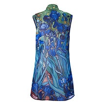 Alternate Image 5 for Monet and Van Gogh Sheer Long Vest