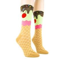 Alternate Image 1 for Ice Cream Cone Women's Socks