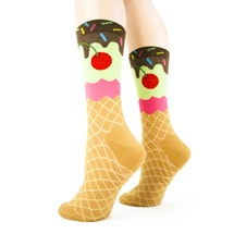 Alternate Image 2 for Ice Cream Cone Women's Socks