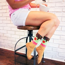 Alternate Image 3 for Ice Cream Cone Women's Socks