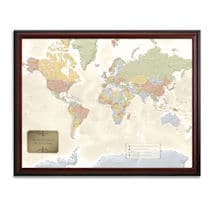 Product Image for Personalized World Traveler Map Set Framed with Pins