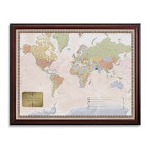Alternate Image 2 for Personalized World Traveler Map Set Framed with Pins