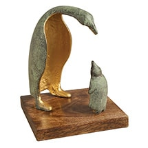 Alternate Image 1 for Parent and Child Penguin Sculpture