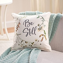Alternate Image 1 for Be Still Pillow