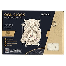 Product Image for Wooden Owl Standing Clock Kit
