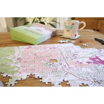 Alternate Image 6 for Personalized Hometown Jigsaw Puzzle