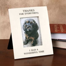 "Alternate Image 1 for ""Thanks for Everything"" Pet Memorial Frame - 4' x 6' Photos"