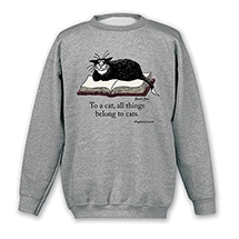Alternate Image 2 for Edward Gorey - 'To A Cat' Shirts
