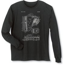 Alternate Image 2 for Vintage Patent Drawing Shirts - Piano