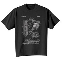 Product Image for Vintage Patent Drawing Shirts - Piano