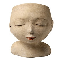 Alternate Image 1 for Head of a Lady Indoor/Outdoor Resin Planter