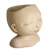 Alternate Image 2 for Head of a Lady Indoor/Outdoor Resin Planter