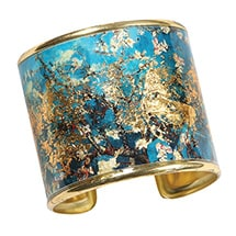 Alternate Image 2 for Gustav Klimt/Vincent Van Gogh Gold-Flecked Cuff Bracelet