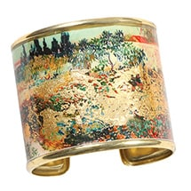 Alternate Image 3 for Gustav Klimt/Vincent Van Gogh Gold-Flecked Cuff Bracelet