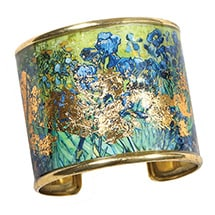 Alternate Image 4 for Gustav Klimt/Vincent Van Gogh Gold-Flecked Cuff Bracelet