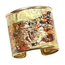 Alternate Image 5 for Gustav Klimt/Vincent Van Gogh Gold-Flecked Cuff Bracelet