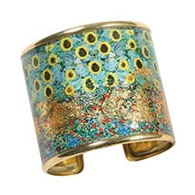 Alternate Image 6 for Gustav Klimt/Vincent Van Gogh Gold-Flecked Cuff Bracelet