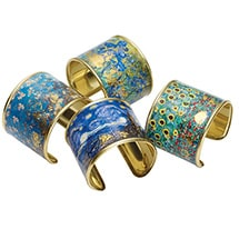 Alternate Image 1 for Gustav Klimt/Vincent Van Gogh Gold-Flecked Cuff Bracelet
