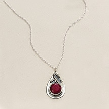 Product Image for Ruby & Sapphire Swirl Necklace