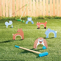 Product Image for Woodland Creature Croquet Set