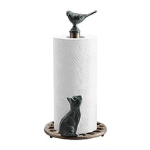 Alternate Image 1 for Cat and Bird Paper Towel Holder